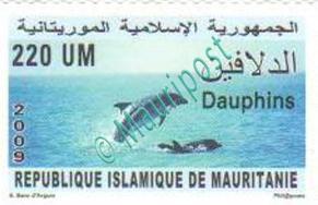 Timbre Mauripost : dauphins